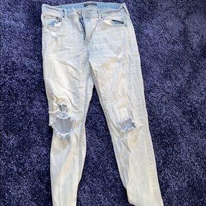 Aeropostale light blue ripped boyfriend jeans